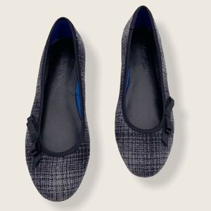 Michael Stars plaid bow ballet flats